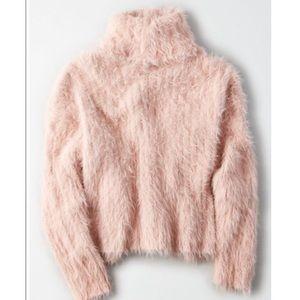 NEW! American Eagle Eyelash Turtleneck Sweater